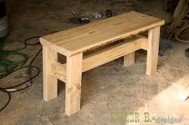 rustic bench step 3 killer b designs