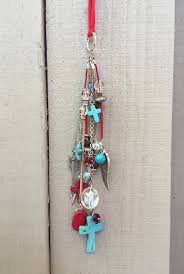 rear view mirror charm boho hippie car by thebadabling
