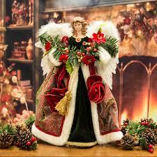 luxury angel christmas tree topper ornament 41cm santa claus