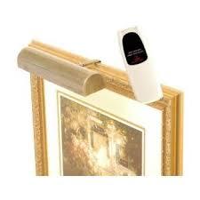 led remote picture light cordless light antique brass hue