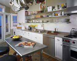 Family Kitchen Design by 15 Dramatic Kitchen Designs With Stainless Steel Shelves Rilane
