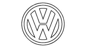 volkswagen drawing how to draw the volkswagen logo symbol youtube