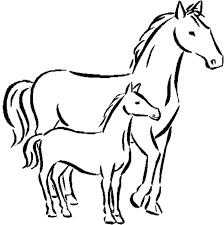 horse coloring pages print coloring ville