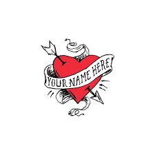 tattly designy temporary tattoos u2014 heart with no name by james