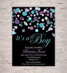 sip and shop invitation blue purple baby boy shower invitation it u0027s a boy invite