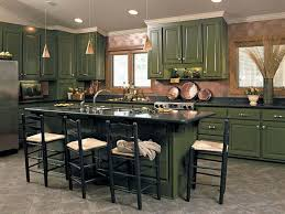 kitchens with green cabinets kitchen with forest green painted cabinets and black countertops