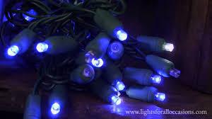 blue led christmas string lights led string lights blue wide angle bulbs cool white twinkle youtube