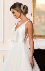 simple wedding dress simple wedding dress with v neckline stella york wedding gowns