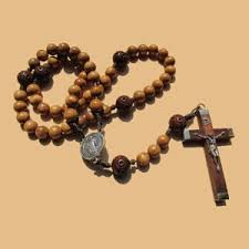 wooden rosary wood rosary clear creek