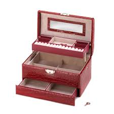 deluxe red jewelry box wholesale at koehler home decor