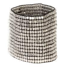 bracelet elastic silver images Buy zad silver metal bead wide elastic stretch cuff bracelet in jpg