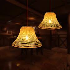 Pendant Lighting Shades Modern Bamboo Pendant Light Shades America Country Cage Bird Nest