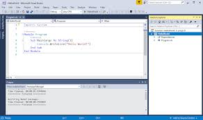 building a hello world application with net core and visual basic