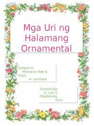 mga uri ng halamang ornamental 1