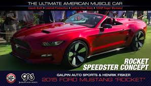widebody muscle cars fisker galpin auto sports rocket the ultimate american muscle car