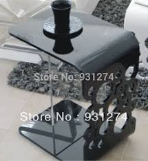 black acrylic side table end table bed table perspex coffee table