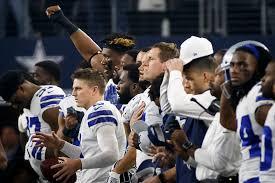 dallas cowboys how cowboys redskins handled national anthem on