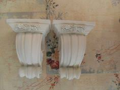 Curtain Rod Sconce Pair Of Shabby Decorative Curtain Rod Sconce Holders Cottage Roses