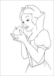 snow white apple coloring