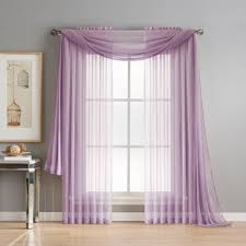 Scarf Curtains Purple Window Scarf Curtains Drapes You Ll Wayfair
