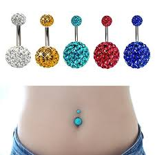 crystal ball rings images Ball belly rings images jpg