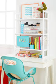 College Desk Organization by Solid Wood Folding Hutch From The Container Store To Provide