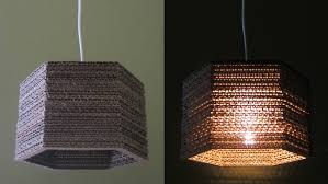 cardboard lamp diy hexagon best out waste project