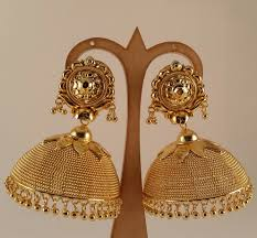 gold jhumka earrings gold jhumka kanchi fashions