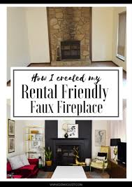 rental approved faux fireplace facade fireplace facade faux
