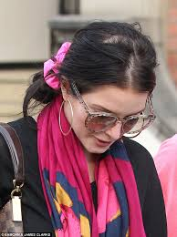 simple hair bandana for covering patch of bald head for ladies helen flanagan covers up unfortunate thinning hair patch with