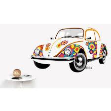 volkswagen bug clip art vw beetle wall tattoo flower bewt02