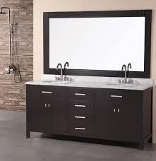 2 Sink Bathroom Vanity Adorna 72 Inch Transitional Espresso Finish Sink Vanity Set