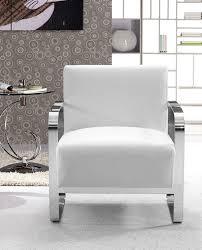 Modern Leather Lounge Chair Divani Casa Brizo Modern White Leather Lounge Chair Lounge