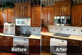 Refinish Kitchen Cabinets Without Stripping How To Darken Oak Cabinets Without Stripping Www