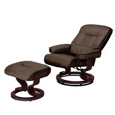 Recliner Chair Santos Leather Recliner Chair And Footstool Chocolate Furnico