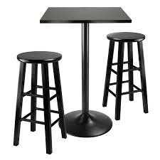 Pub Dining Room Tables by Amazon Com Winsome Obsidian 3 Piece Pub Table Set Table