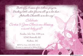 butterfly kisses baby shower invitation sweet sentimental