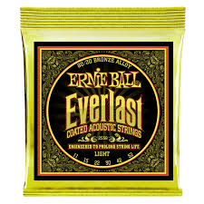 Light Guitar Strings by Everlast Coated 80 20 Bronze Acoustic Guitar Strings Ernie Ball