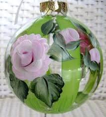 painted 5 inch glass ornament by calligraphicartisan
