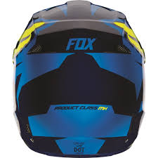 motocross helmet clearance fox racing 2016 v1 race helmet blue yellow available at motocross