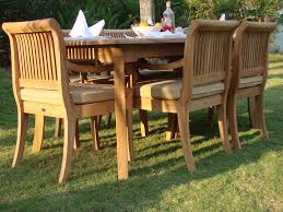 Dining Patio Set - 7 pc teak dining set garden outdoor patio furniture giva 83 u0026 034