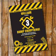 danger tape construction party invitation dump everything