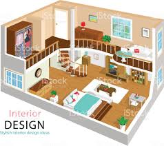 isometric floor plan a vector illustration of a modern detailed isometric apartment