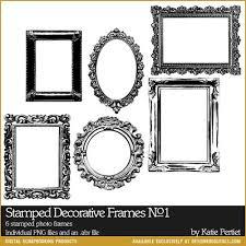 Stamped Decorative Frames No 01 Katie Pertiet Brushes EL