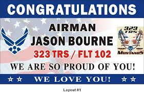 3ftx5ft personalized congratulations airman u s us air force