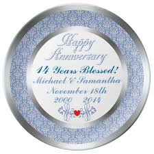 personalized anniversary plate any number personalized anniversary plate zazzle