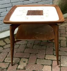 tile table top makeover tile top end tables pair of stone tile top end tables ceramic tile