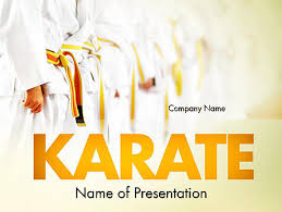 martial arts training powerpoint template backgrounds 11641
