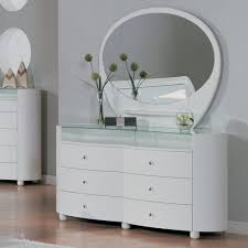 Mirrored Glass Bedroom Furniture Decoration Modern White Dresser Med Art Home Design Posters