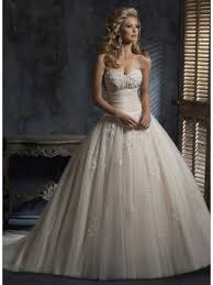 gown sweetheart court train taffeta and tulle light gold vintage